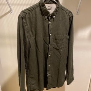 Acne Studios dark green button down